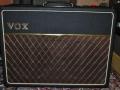 Front Vox AC10 Twin 1964 Version 12 met Basket Weave Rexine en Black Grillcloth.