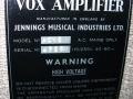 Vox AC15 Split- front Fawn 1961, lederen handle, brass vents, typeplaatje JMI.