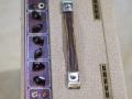 Vox AC15 Split- front Fawn 1961, lederen handle, brass vents. Red panel, Top.