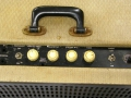 Vox AC15 TV Front Cream 1959, black Island control panel met originele white knobs, 1e EF86 chassis.