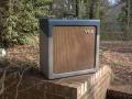Vox AC15 TV Front Two Tone Eind 1960 met Brown Selmer grilcloth (origineel JMI).