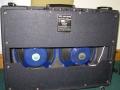 Vox AC15 Twin eind 1964, back met 2x12 inch Blue Fane 122-17 alnico speakers 15 ohm.