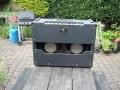 Vox AC15 Twin eind 1964, back met 2x12 inch Grey Fane 122-17 alnico speakers 15 ohm.