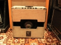 Vox AC15, laatste TV front medio-eind 1960, 3e EF86 circuit, Two-piece woden back.