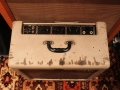 Vox AC15, laatste TV front medio-eind 1960, 3e EF86 circuit, full cut out control panel.