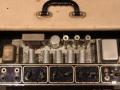 Vox AC15, laatste TV front medio-eind 1960, 3e EF86 circuit, open top, Black panel.