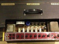 Vox AC30TB Expanded herfst 1964, basketweave rexine, red panel open chassis.