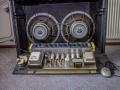 Vox AC30-6TB Expanded 1964, chassis grey panel voorkant, modificatie met  koelventilator.