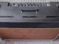 Vox AC30-6TB Expanded 1964, top front, grey panel, black vents.