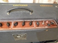 Vox AC30TB Expanded herfst 1964, basketweave rexine, brass vents, red panel rechts, pill voltage selector, geen corners.