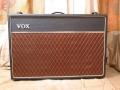 Vox AC30TB Expanded herfst 1964, basketweave rexine, geen corners, brown diamond grillcloth vervangen.