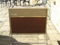 Front Vox AC 30/6 Twin 2*12 inch Split-front 1960-1961, black panel, Fawn.