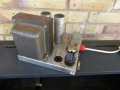 Vox AC30 1960 single speaker vloerchassis met voedingstrafo, choke en GZ34 gelijkrichter.