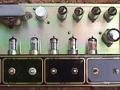 Chassis Vox AC30/4, Black Panel 1960. a JMI product links. 2 kanalen, 4 inputs, Toonregeling Brilliant en Cut. Albion trafo's.