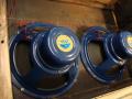 Celestion T.530 Alnico speakers Azure Blue 12 inch 8 ohm, 3 bolts, soldering op huis, in Fawn AC30 1963.