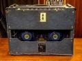 VOX AC30/6 TB Red panel 1963 met rare Custom Colour Dark BLUE covering, back met 2x 12 inch Celestion T.530 Blue Alnico speakers en Add-on Top Boost kit.
