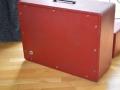 VOX JMI AC30 Supertwin Original 'Custom Colour' RED Tolex 1963, back pressurized (gesloten) AC50MK1 cabinet,