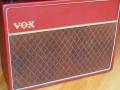 VOX JMI AC30 Supertwin Original 'Custom Colour' RED Tolex 1963 front pressurized (gesloten) AC50MK1 cabinet,