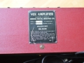 VOX JMI AC30 Supertwin Original 'Custom Colour' RED Tolex, typeplaatje januari 1963.