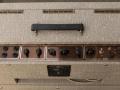 VOX JMI AC30 Supertwin late 1964 piggy back herbekleed in Fawn Rexine, top met Red panel en SBU handle.