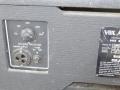 1970-1972 Vox Slave Driver Compact 50T, Belling Lee mains aansluiting, spannings-selector en typeplaatje.