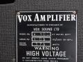 Vox V100, VSL typeplaatje.
