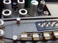 Bandloop VOX Long Tom MKII-CO4 van Roy Sourioroseno, metalen Mariott koppen met evenwijdige spatie geplaatst. De originele Rapid-Slow switch is vervangen door 4 losse switchen voor de weergavekoppen 1 t/m 4, modificatie van Jan van Beveren.