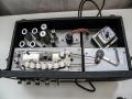 Bandloop 68,5 cm Vox Echo Long Tom  MKII-CO2 -1e generatie. Korte chroom koppenplaat met bruin bakelieten Marriott koppen-bakelieten connector bedrading. EL84 wis-oscilatiebuis.