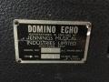 Vox Domino Echo, model 1 high 1963, typeplaatje.