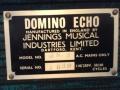 Vox Domino Echo- model MK2 low 1964, typeplaatje.