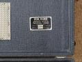 Vox Long Tom MKII-CO2 echo, deksel met typeplaatje.