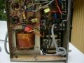 Zicht op electronica Vox Echo Short Tom, oscilatorcoil vervangen.