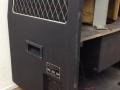 Jennings PO1 Rotary cabinet, zijkant links met aansluitblok en typeplaatje.