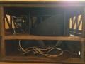 Vox Gyrotone MK1 Rotary cabinet 1967, binnenwerk met houten rotor en daaronder 1x12 inch speaker.