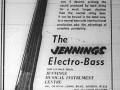 Jennings Electro Bass  Advert Melody Maker Magazine february 1958.
