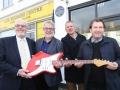 Onthulling op 14-2-2017 van de Special London Blue Plaque Vox Amps 60th Anniversary since 1958 op het historische JMI pand aan de Dartford Road 119, voorheen JMI Reseach & Development.
