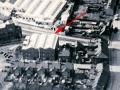 Luchtfoto Vox-Burndept factory Erith Kent, rechts achter de Vox fabriek het Elizabethan gebouw.
