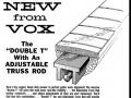 Vox Double T aluminium halsstabilisator met verstelbare halspen (EKO ontwerp),  toegepast bij vele Vox gitaren.