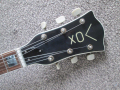 V213 Lynx 2 pickups 1964-1965 made by Crucianelli Italy, headstock front.