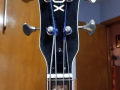 V214 Cougar Bass 2 pickups 1964, made by Crucianelli Italy, headstock front.