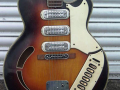 Vox 3 pickups 1963, fabrikaat Welson Italy, front body.