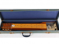 Hawaiin Steel Guitar 1964 mahogany body, 6 snaren, 1 Vox pickup, Jennings badge 2 controls, in original case.