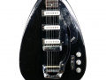 Phantom Mark III Teardrop 1964 Black (UK model Brian Jones Rolling Stones), 3 pickups, body met tremolo.