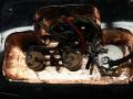 Phantom Mark III Teardrop 1965 Black (model Brian Jones Rolling Stones), 3 pickups, electronica 3 weg switch en potmeters controls.
