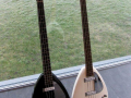 Phantom Mark III Teardrop Bass rechts Prototype - UK 1962-1964, links EKO It,  V224 Mark IV 1965.