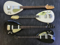 Phantom Mark Teardrops, van boven naar beneden, V224 Mark IV 1965, Mark III Twelve 1964, Mark III Bass 1964, Mark III Six 1964.