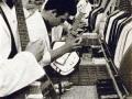 Vox productielijn gitaren bij Unity Works in Dartford.