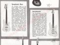 Vox Guitar catalogue 1962-panel4 met de eerste generatie Vox modellen.