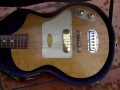Vox LG40 Shadow Guitar 1959 met 1 pick up gebouwd door Guyatone, body.