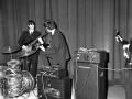 Beatles in januari 1964 in Paris Olympia met AC50 MK1 Washington DC cabinets met Goodmans horn. Slechts enkele van gemaakt.